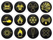 Hazard warning. Related icon set each individually layered Vector Illustration