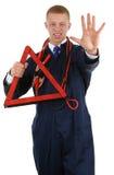 Hazard warning Stock Photography
