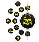 Hazard warning Royalty Free Stock Images