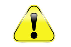 Hazard warning attention sign Stock Photography