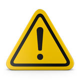 Hazard warning attention sign Royalty Free Stock Photos