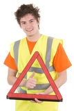 Hazard warning guy Stock Images