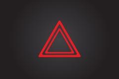 Hazard warning lights. Flashes button in car. Flat illustration royalty free stock photo