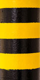 Hazard Warning Paint on Pillar Stock Image