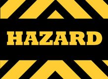 Hazard warning sign Stock Photo