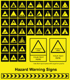 Hazard Warning sign Stock Photos
