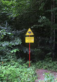 Hazard warning sign Royalty Free Stock Photos