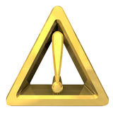 Hazard warning sign with exclamation mark Royalty Free Stock Images