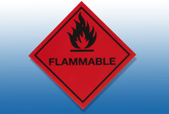 Hazard Warning Sign - Flammable Royalty Free Stock Photo