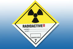 Hazard Warning Sign - Radiation Royalty Free Stock Photos