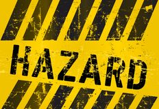 Hazard Warning sign Royalty Free Stock Image