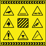 Hazard Warning Signs 2. A collection of hazard warning signs fully layered Vector Illustration