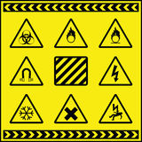 Hazard Warning Signs 3. A collection of hazard warning signs fully layered Vector Illustration