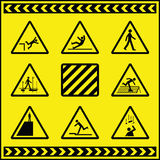 Hazard Warning Signs 4 Stock Photography
