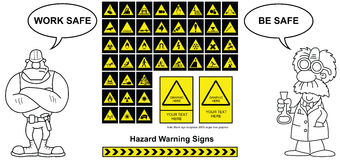 Hazard Warning signs Stock Photography