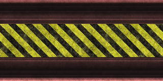 Hazard warning stripes Stock Images