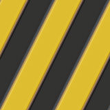 Hazard warning stripes Stock Photo