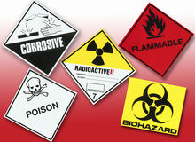 Hazard Warning Symbols. Collection of Hazard Warning Symbols Royalty Free Stock Image