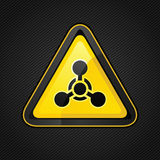 Hazard warning triangle chemical weapon sign Royalty Free Stock Photography