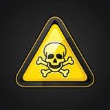 Hazard warning triangle toxic sign  Royalty Free Stock Photos