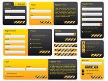 Hazard website form set Royalty Free Stock Photos