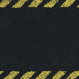 Hazard yellow lines background. Royalty Free Stock Photography