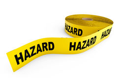 Hazard Yellow Tape Stock Photo