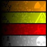 Hazardous banners Stock Images