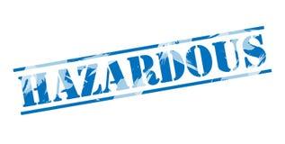 Hazardous blue stamp. Isolated on white background Royalty Free Stock Image