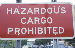 A hazardous cargo sign Stock Photos