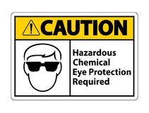 Free Hazardous Chemical Eye Protection Required Symbol Sign Isolate On White Background Stock Images - 172881244
