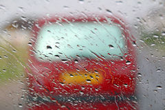 Hazardous driving conditions Royalty Free Stock Photos
