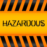 Hazardous icon Royalty Free Stock Image