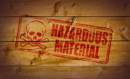 Hazardous Material stamp Stock Photo