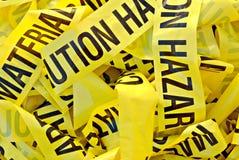 Hazardous Material Tape stock photos