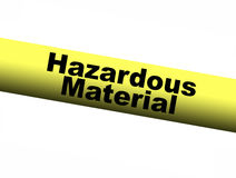 Hazardous Material Yellow Barrier Tape Stock Photo