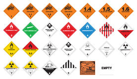Hazardous materials - Hazmat Labels Stock Photo