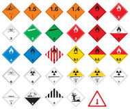 Hazardous pictograms - goods signs. Globally Harmonized System of Classification and Labeling of Chemicals. Hazard pictograms which are for workplace hazard Royalty Free Stock Photography