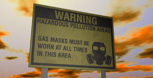Hazardous Pollution Warning Stock Image