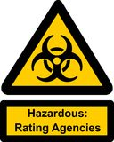 Hazardous rating agencies Stock Image