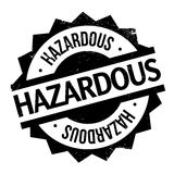 Hazardous rubber stamp. Grunge design with dust scratches. Effects can be easily removed for a clean, crisp look. Color is easily changed Stock Photography