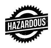 Hazardous rubber stamp. Grunge design with dust scratches. Effects can be easily removed for a clean, crisp look. Color is easily changed Royalty Free Stock Images