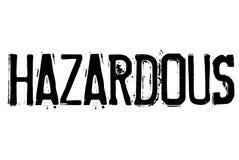 Hazardous typographic stamp. Typographic sign, badge or logo Royalty Free Stock Images