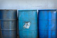 Hazardous Waste. Hazardous and Toxic Waste Barrels storing pollution royalty free stock photos
