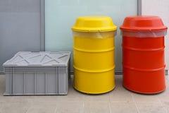 Hazardous Waste Disposal Barrels Royalty Free Stock Photos