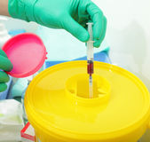 Hazardous waste in the hospital Stock Photo