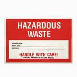 Hazardous waste sign. Royalty Free Stock Photo