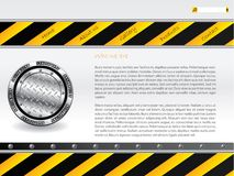 Hazardous website template Stock Photos
