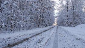 Hazardous Winter Driving Royalty Free Stock Image
