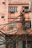 Hazardous wiring Stock Photos